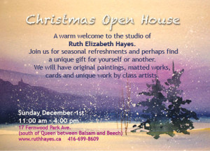 Christmas art show invitation 2013