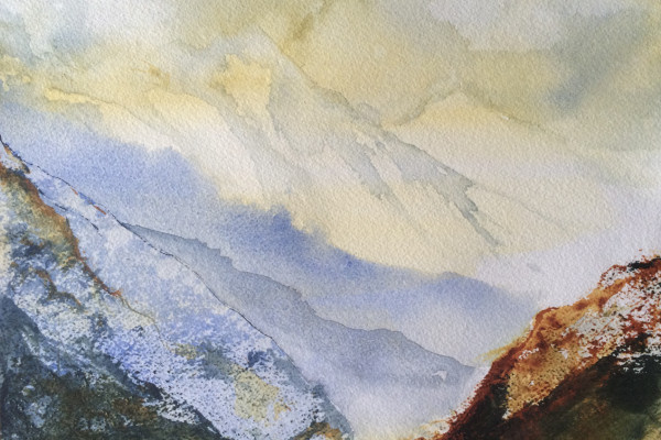 Fire on the mountain - Watercolour